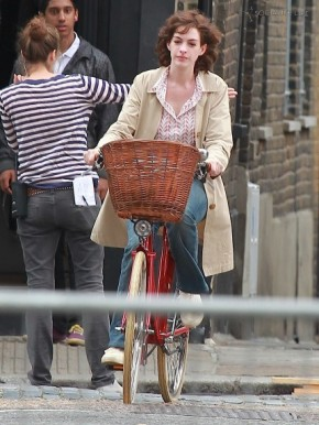 Even sappy chick flicks starring Anne Hathaway can have a bicycle-related message...